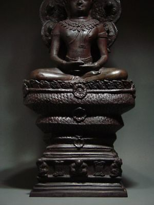 BUDDHA SHELTERED  BY NAGA'S HOOD, LOPBURI ART STYLE, 19/20th C. 8