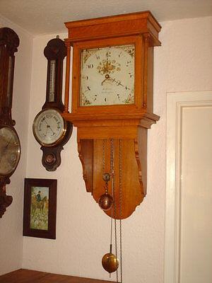 Oak Hooded Wall Clock 4