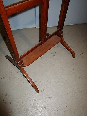19c Antique English Georgian Mahogany Adjustable Quilt Blanket Rack Stand c1850 4