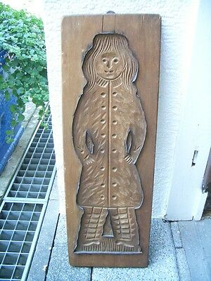 Großes altes Holzmodel, Backmodel, Lebkuchenmodel um 1900 5