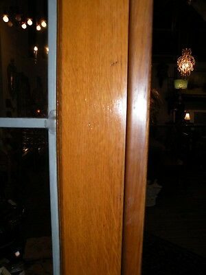 Pair Of Beveled Leaded Glass French Doors In Oak 6