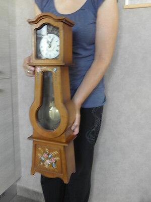 Clock Chime Longcase  Musical horloge retro vintage pendule polychromatic wood 4