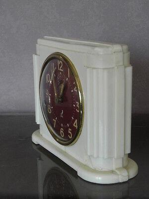 vintage clock alarm jaz retro desk  Art Deco design  Mechanics uhr old french 3