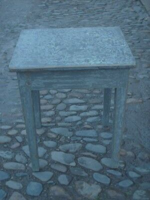 Antique Rustic Pine Painted Side Table 6
