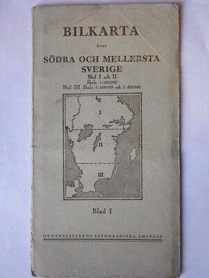 Sweden in Three Parts - Vintage Maps 3