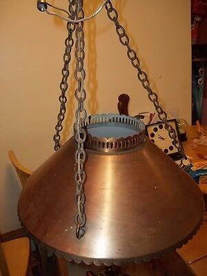 antique the feldman co. hanging brass or copper lamp 3