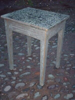 Antique Rustic Pine Painted Side Table 5