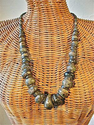 Pre-Columbian Mezcala Jade Green Stone Bead Necklace Mexico 2