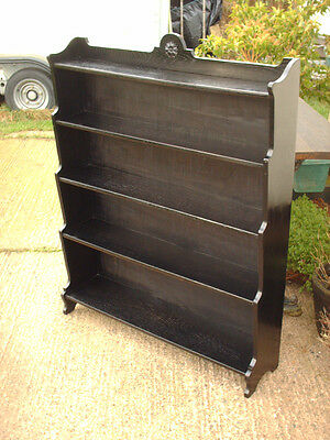 Vintage Ebonized Oak Bookcase 3