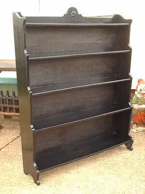 Vintage Ebonized Oak Bookcase 5