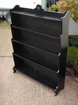 Vintage Ebonized Oak Bookcase 8