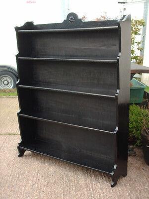 Vintage Ebonized Oak Bookcase 6