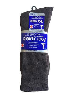 3 Pairs Diabetic CREW circulatory Socks Health Men's & Women's  Cotton ALL SIZE