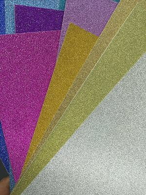 10 X A4 Glitter Cardstock Craft Paper 20 Colors Scrapbooking Card Making Craft
