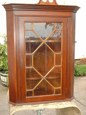 Vintage Astragal- Glazed  Corner  Display  Cabinet 5