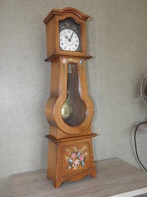 Clock Chime Longcase  Musical horloge retro vintage pendule polychromatic wood 9