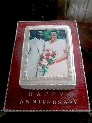 """YOUR OWN PERSONALISED PHOTO MESSAGE EDIBLECAKE TOPPER FOR A4 Size (10"""" x 7.5"""") 2"""