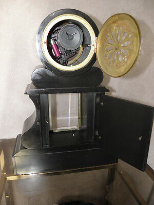 antique clock marbre century mounted marble red mantel for clock old french uhr 10