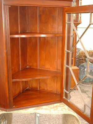 Vintage Astragal- Glazed  Corner  Display  Cabinet 3