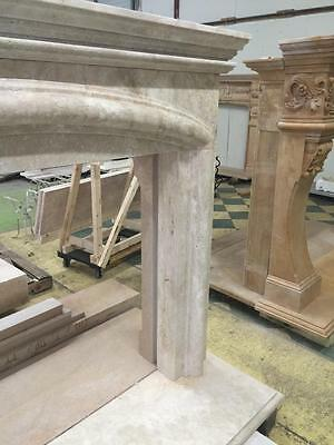Beautiful Large Hand Carved Marble Estate Fireplace Mantel - Jd608 8