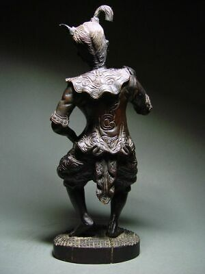 ANTIQUE INDONESIA WOOD-CARVED BALINESE TEMPLE DANCE FIGURE. CIRCA: LATE 19th C. 5