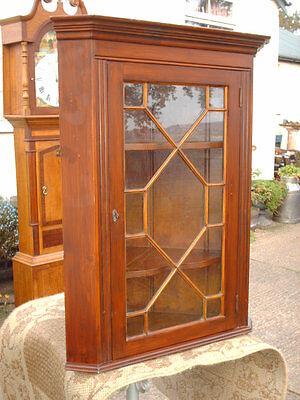 Vintage Astragal- Glazed  Corner  Display  Cabinet 2
