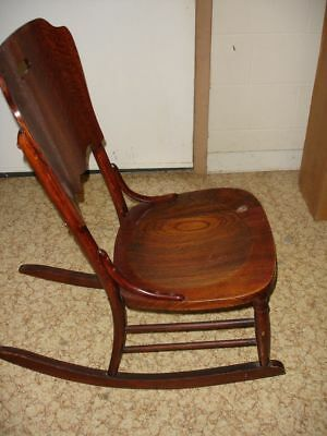 Beautiful Antique Wooden Rocking Chair 9