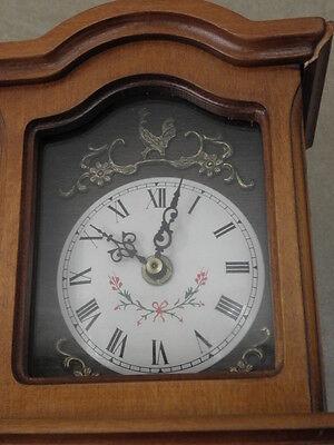 Clock Chime Longcase  Musical horloge retro vintage pendule polychromatic wood 7