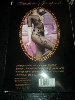 Sexy Bodystocking Netz Bodystocking Jumpsuit schwarz ONE SIZE OVP 2