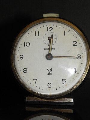 old RETRO clock alarm jaz discreto desk Art Deco design vintage Mechanics uhr 3