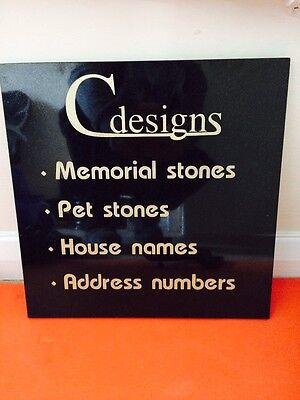 Granite Bespoke cremation memorial stones,Grave Marker, Plaque 12mmx300mmx300mm 6