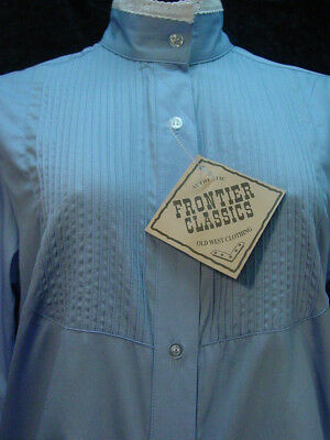 Victorian Frontier Classics Vintage style Brown blouse S-3X with free brooch