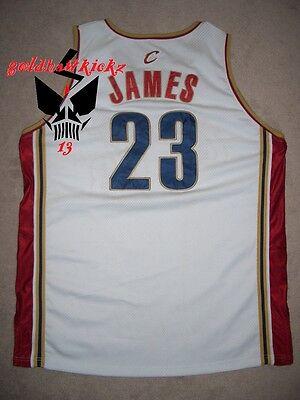 the best attitude ab7ee 8a345 AUTHENTIC CLEVELAND CAVALIERS procut lebron james jersey rookie 2003 cavs  REEBOK