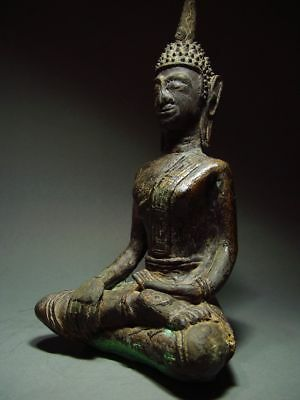 ANTIQUE BRONZE MEDITATING  SAKYAMUNI ' LAN CHANG' BUDDHA, LAOTIAN ART 9/10th C. 2