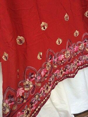 Pakistani Hand Embroidered Long Kameez/Kurta/Tunic with Trousers Sari Saree 12 3
