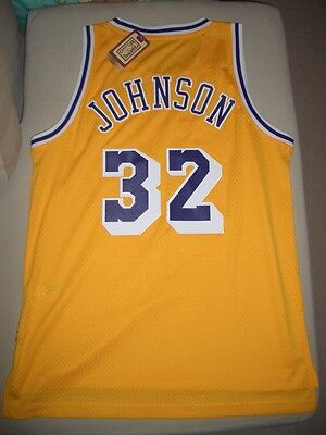 reputable site 4843e d4ae7 ADIDAS MAGIC JOHNSON lakers HARDWOOD CLASSICS HWC soul SWINGMAN JERSEY