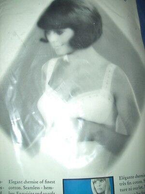 RAR Vintage Luxus Bleyle Unterhemd Chemise Gr. 42 weiß ungetragen OVP  (H392) 2