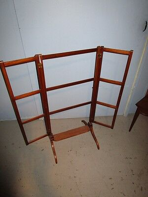 19c Antique English Georgian Mahogany Adjustable Quilt Blanket Rack Stand c1850 7