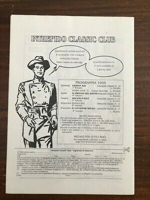 Intrepido Classic Club 1995 / Newsletter + 3 Sketch  Dago, Martin Hel, Nippur 2