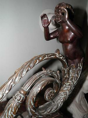 Ornate Bronze Figural Mythological Fireplace Fender Chenet 9