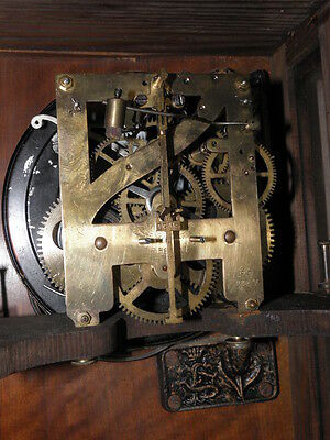 antique Clock Vienna Regulator German Wall Clock Chime horloge circa old d.r p 7