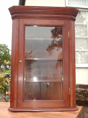 Antique Mahogany  Corner  Display  Cabinet 2