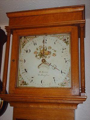 Oak Hooded Wall Clock 2