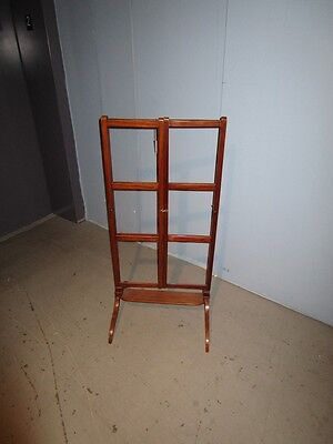 19c Antique English Georgian Mahogany Adjustable Quilt Blanket Rack Stand c1850 2