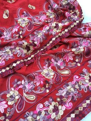Pakistani Hand Embroidered Long Kameez/Kurta/Tunic with Trousers Sari Saree 12 7