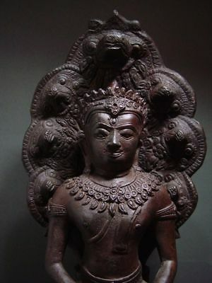 BUDDHA SHELTERED  BY NAGA'S HOOD, LOPBURI ART STYLE, 19/20th C. 7