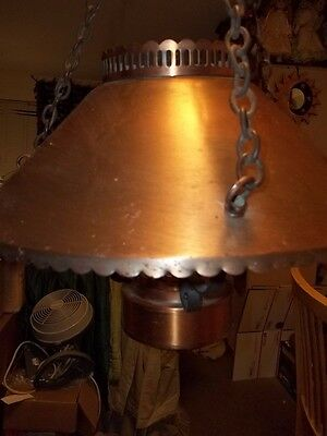 antique the feldman co. hanging brass or copper lamp 4