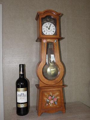 Clock Chime Longcase  Musical horloge retro vintage pendule polychromatic wood 10