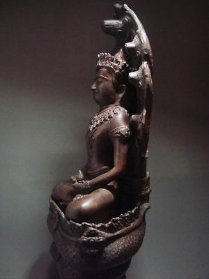 BUDDHA SHELTERED  BY NAGA'S HOOD, LOPBURI ART STYLE, 19/20th C. 11