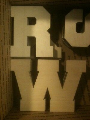 3 of 4 12 wooden block style letter unfinished wood letters custom 12 inch